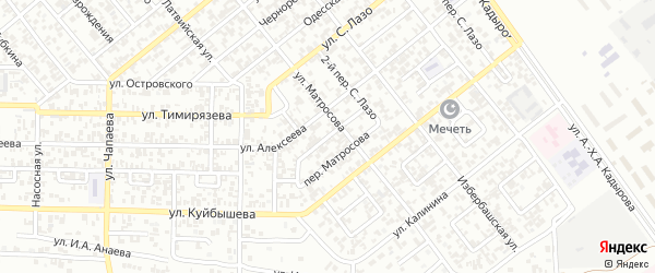 Вайнахский 3-й переулок на карте Грозного с номерами домов