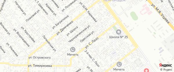 Одесская улица на карте Грозного с номерами домов