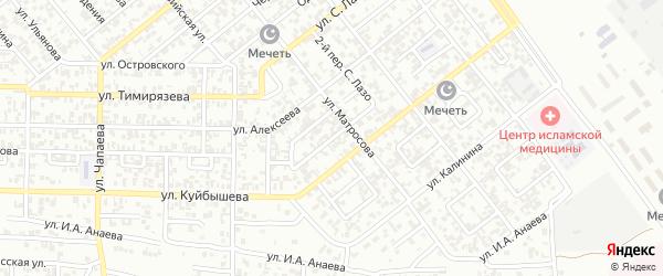 Переулок Матросова на карте Грозного с номерами домов
