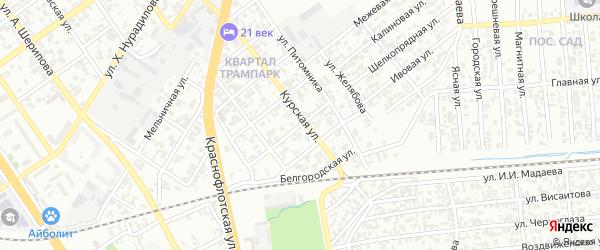 Конечная улица на карте Грозного с номерами домов