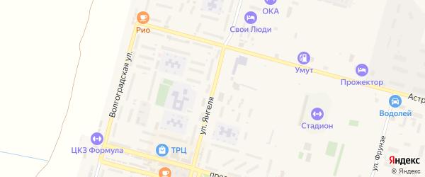 Улица Янгеля на карте Знаменска с номерами домов