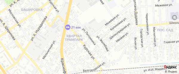 Улица Питомника на карте Грозного с номерами домов