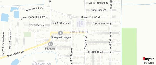 Шатойская улица на карте Грозного с номерами домов