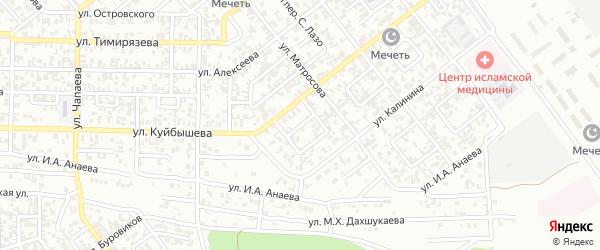 Куйбышева 3-й переулок на карте Грозного с номерами домов