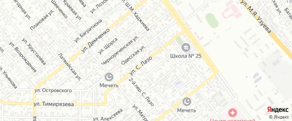 Улица С.Лазо на карте Грозного с номерами домов