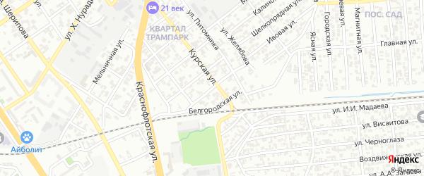 Парниковая улица на карте Грозного с номерами домов