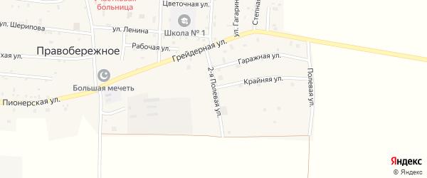 Улица Полевая 2-й на карте Правобережного села с номерами домов