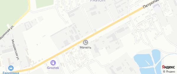 Улица Петропавловское шоссе на карте Грозного с номерами домов