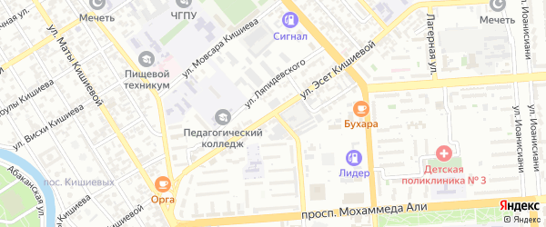 Улица А.Чеченского на карте Грозного с номерами домов
