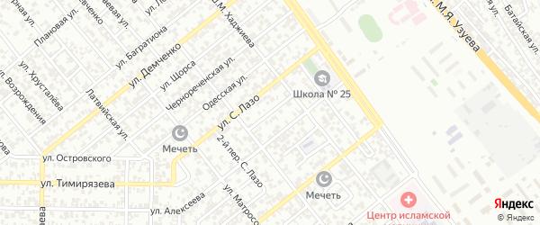 Украинский 1-й переулок на карте Грозного с номерами домов