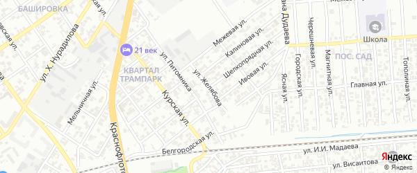 Улица им Желябова на карте Грозного с номерами домов
