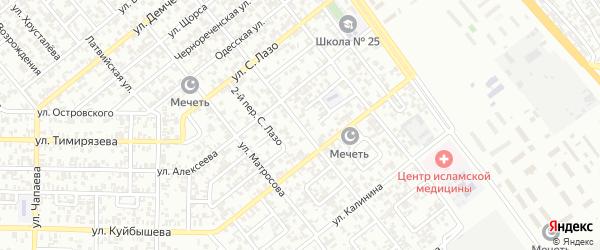 Избербашская улица на карте Грозного с номерами домов