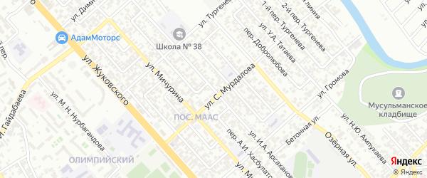 Улица Дарвина на карте Грозного с номерами домов