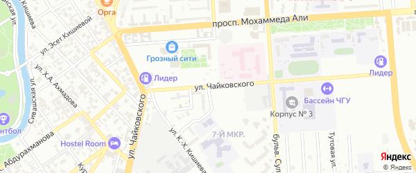 Улица Чайковского на карте Грозного с номерами домов