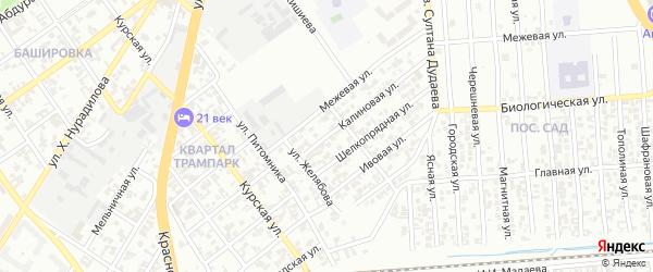 Калиновая улица на карте Грозного с номерами домов