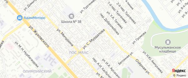 Тургенева 1-й переулок на карте Грозного с номерами домов