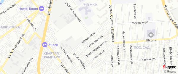 Межевая улица на карте Грозного с номерами домов