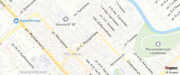 Улица им Сулеймана Мурдалова на карте Грозного с номерами домов