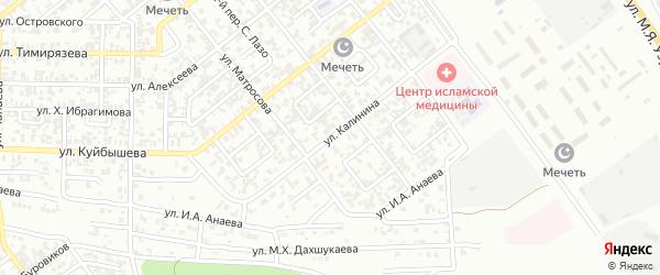 Улица Калинина на карте Грозного с номерами домов