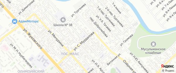 Ленинградский 2-й переулок на карте Грозного с номерами домов