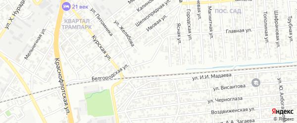 Парусная улица на карте Грозного с номерами домов