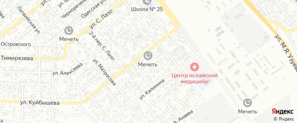 Гудермесский 2-й переулок на карте Грозного с номерами домов