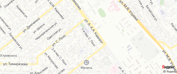 Избербашский 1-й переулок на карте Грозного с номерами домов