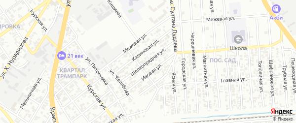 Шелкопрядная улица на карте Грозного с номерами домов