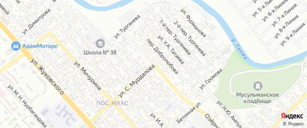 Улица Джамбула на карте Грозного с номерами домов