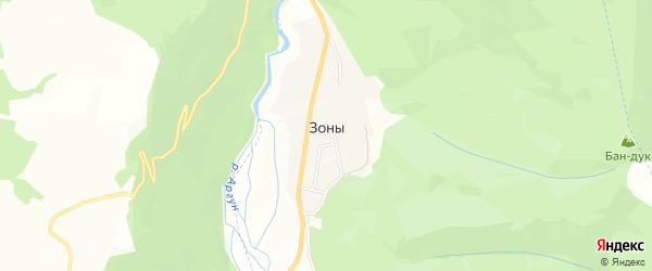 Карта села Зоны в Чечне с улицами и номерами домов