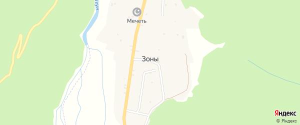 Переулок Лесная-2 на карте села Зоны с номерами домов