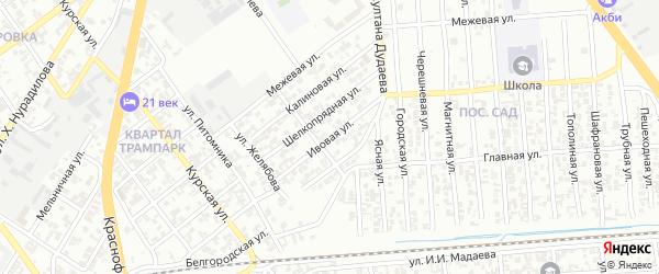Ивовая улица на карте Грозного с номерами домов