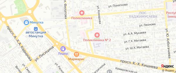 Переулок Леонова на карте Грозного с номерами домов