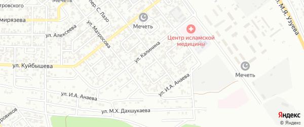 Избербашский 2-й переулок на карте Грозного с номерами домов