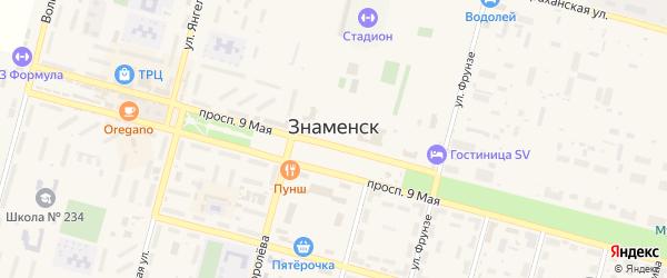 Площадь Королева на карте Знаменска с номерами домов