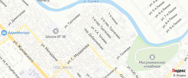 Переулок им Добролюбова на карте Грозного с номерами домов