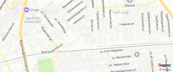 Мозаичная улица на карте Грозного с номерами домов
