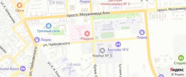 Проспект Бульвар Дудаева на карте Грозного с номерами домов