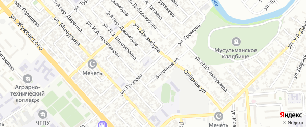 Улица им Громова на карте Грозного с номерами домов