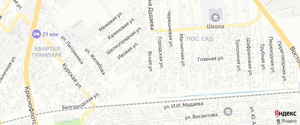 Ясная улица на карте Грозного с номерами домов