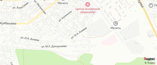 Магаданская улица на карте Грозного с номерами домов