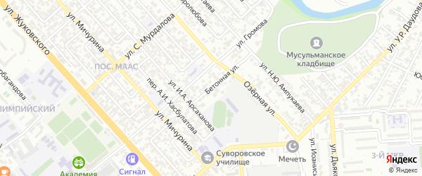 Круговой 3-й переулок на карте Грозного с номерами домов