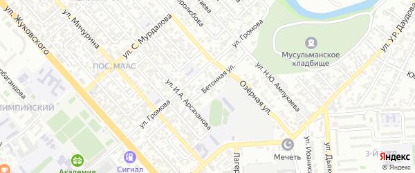Рассветный 3-й переулок на карте Грозного с номерами домов