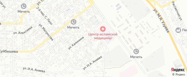 Украинский 3-й переулок на карте Грозного с номерами домов