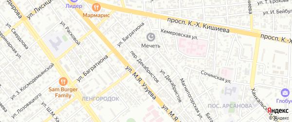 Гудермесский 3-й переулок на карте Грозного с номерами домов