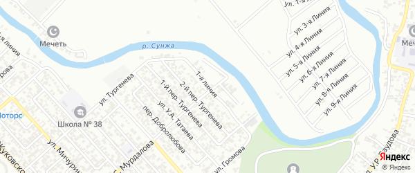 Улица Фурманова на карте Грозного с номерами домов