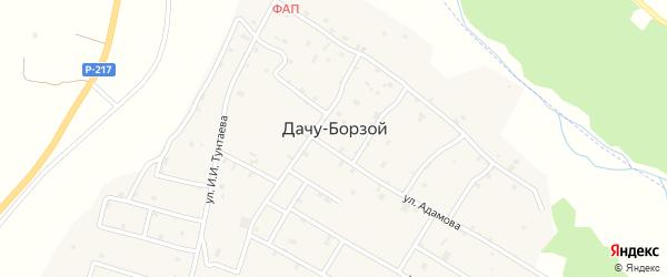 Переулок Оржоникидзе на карте села Дачу-Борзой с номерами домов