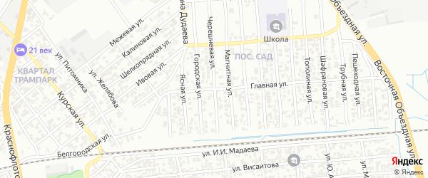 Черешневая улица на карте Грозного с номерами домов