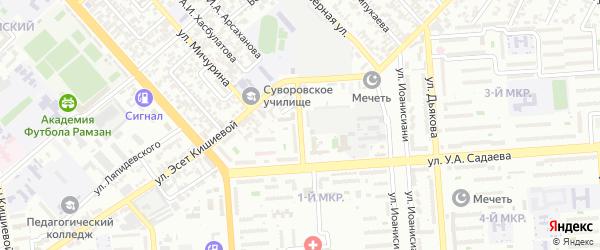 Лагерная улица на карте Грозного с номерами домов
