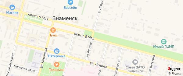 Проспект 9 Мая на карте Знаменска с номерами домов
